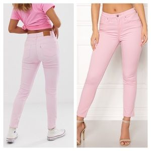 NWT Levi's Pastel Pink High Rise Ankle Skinny 25